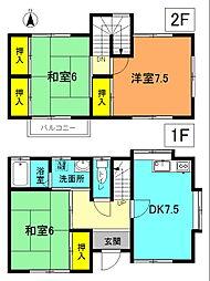 [テラスハウス] 神奈川県平塚市岡崎 の賃貸【/】の間取り