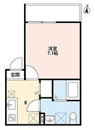 JR高崎線 宮原駅 徒歩4分の賃貸アパート 3階1Kの間取り