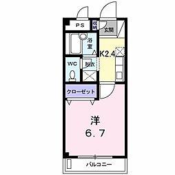 マリッチ三ケ森[3階]の間取り