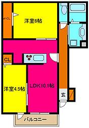 d−room横小路[107号室]の間取り