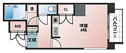 大阪府大阪市西区立売堀5丁目の賃貸マンションの間取り