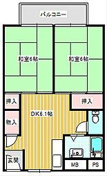 UR住吉団地[6-1026号室]の間取り