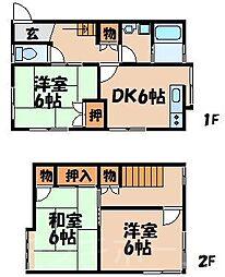 [テラスハウス] 広島県広島市安芸区中野東1丁目 の賃貸【/】の間取り