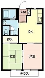 タウニィー・イシヅ[1階]の間取り