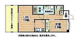 福岡県北九州市八幡西区永犬丸東町2の賃貸アパートの間取り