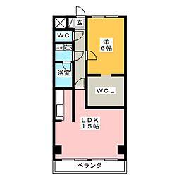 旭川スカイハイツ[6階]の間取り