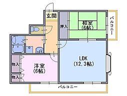 ソレーユYAMADA[406号室]の間取り