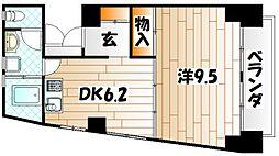 城屋第一ビル[3階]の間取り
