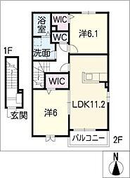 エスポワール・W[2階]の間取り