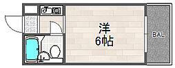 大阪府大阪市西淀川区姫島2丁目の賃貸マンションの間取り