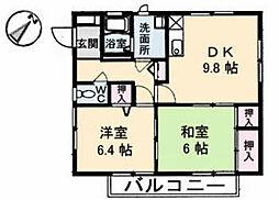 広島県広島市東区矢賀1丁目の賃貸アパートの間取り