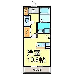 メゾン堂ノ前[B103号室]の間取り