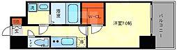 エスプレイス大阪ガルフレジデンス 1階1Kの間取り