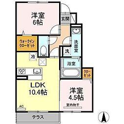 D−room南吉田(仮)[A102 号室号室]の間取り