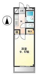 愛知県日進市北新町殿ケ池下の賃貸マンションの間取り