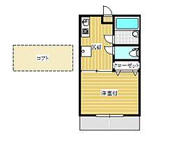 パチェラハウス2[2階]の間取り
