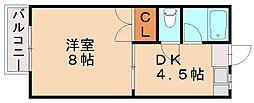 ピナクル臼井[2階]の間取り