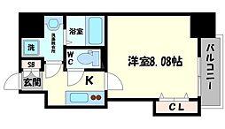 DwellingASAHI 2階1Kの間取り