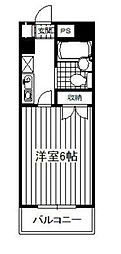 神奈川県相模原市中央区横山台1丁目の賃貸マンションの間取り