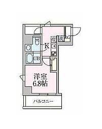 都営浅草線 浅草駅 徒歩16分の賃貸マンション 5階1Kの間取り