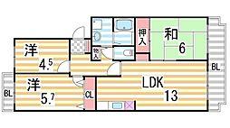 JAパストラルII[305号室]の間取り