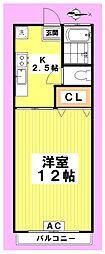 中野セントラルマンション[102号室]の間取り