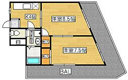 コーポ阪神[303号室]の間取り