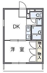神奈川県相模原市緑区相原3の賃貸アパートの間取り