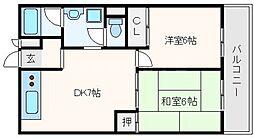 サニーサイド新大阪[10階]の間取り