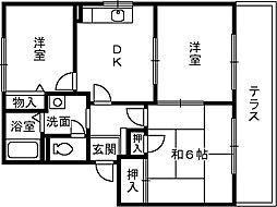 花水木タウン[1階]の間取り
