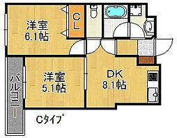 グランドメゾン[3階]の間取り