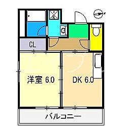 カインド中宝永[6階]の間取り