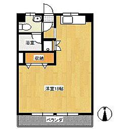 辻忠第一ビル[2階]の間取り