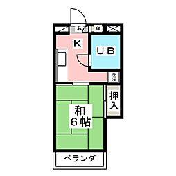 第五白鳥ビル[4階]の間取り