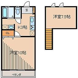 エクセリーナII[2階]の間取り