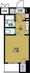 ベルシモンズ大阪港[5階]の間取り