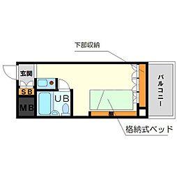 ライオンズマンション新大阪第5[7階]の間取り