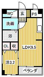 愛知県名古屋市中川区好本町3丁目の賃貸マンションの間取り
