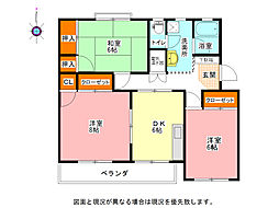 徳島県鳴門市撫養町立岩字七枚の賃貸マンションの間取り
