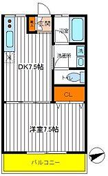 東京都立川市錦町3丁目の賃貸アパートの間取り