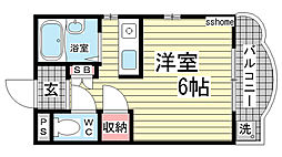 カサイマンション[303号室]の間取り