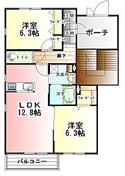 カーサ・ソラーナ B棟[2階]の間取り
