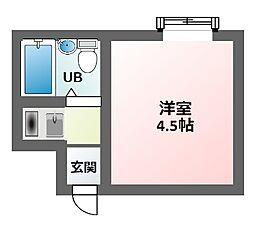 M´sコーポ北田辺[3階]の間取り