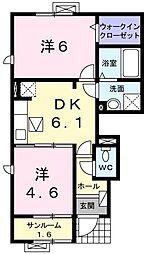 Manor House C・H[0101号室]の間取り