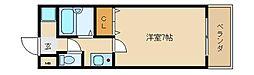大阪府東大阪市水走2丁目の賃貸マンションの間取り