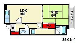 丸洋ビル[2階]の間取り