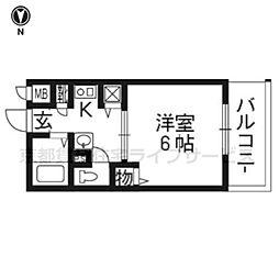 エステムコート京都河原町プレジール1002[10階]の間取り
