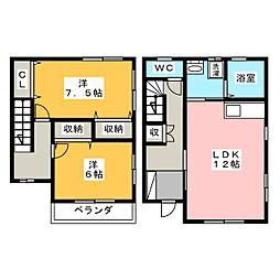 [テラスハウス] 静岡県浜松市中区住吉1丁目 の賃貸【/】の間取り