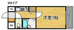 S エーデルメタレ[3階]の間取り