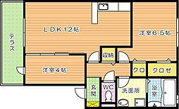 エストレージャ B棟[1階]の間取り